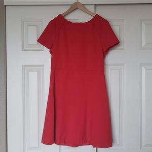 J Crew Little Red Dress Piping Structured Stretch